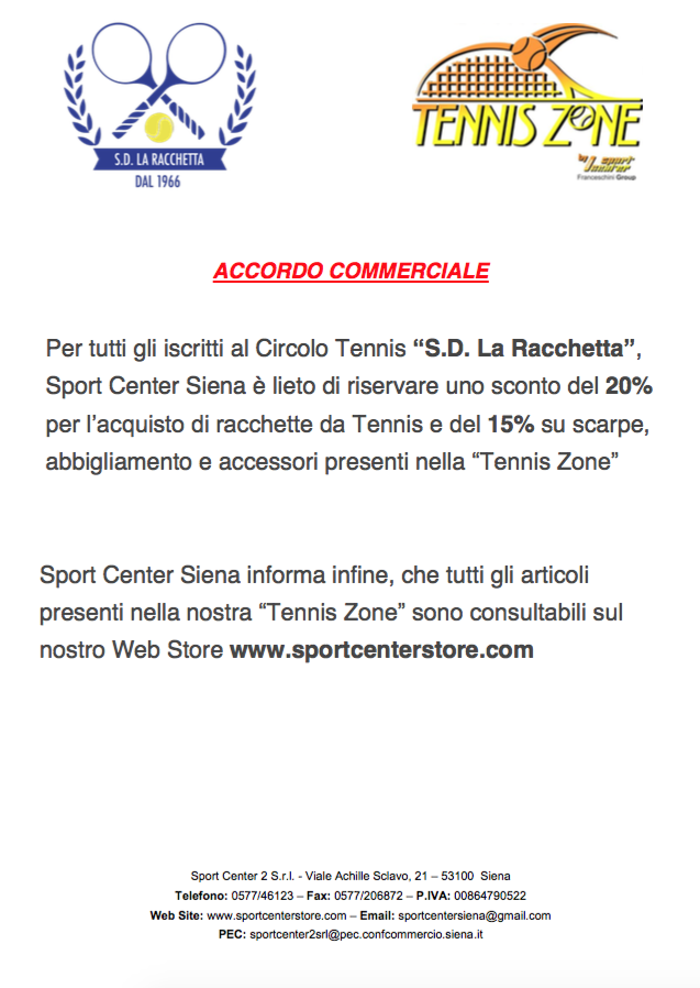 Sport Center Siena Web Store