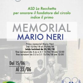 TORNEO III CATEGORIA 2018 M/F MEMORIAL MARIO NERI