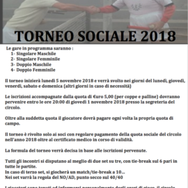TORNEO SOCIALE