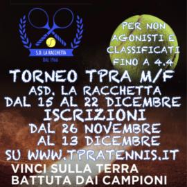 TORNEO GAZZETTA TPRA CHALLENGE SINGOLARE M/F