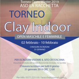 TORNEO OPEN WINTER 2019 ASD LA RACCHETTA CLAY INDOOR