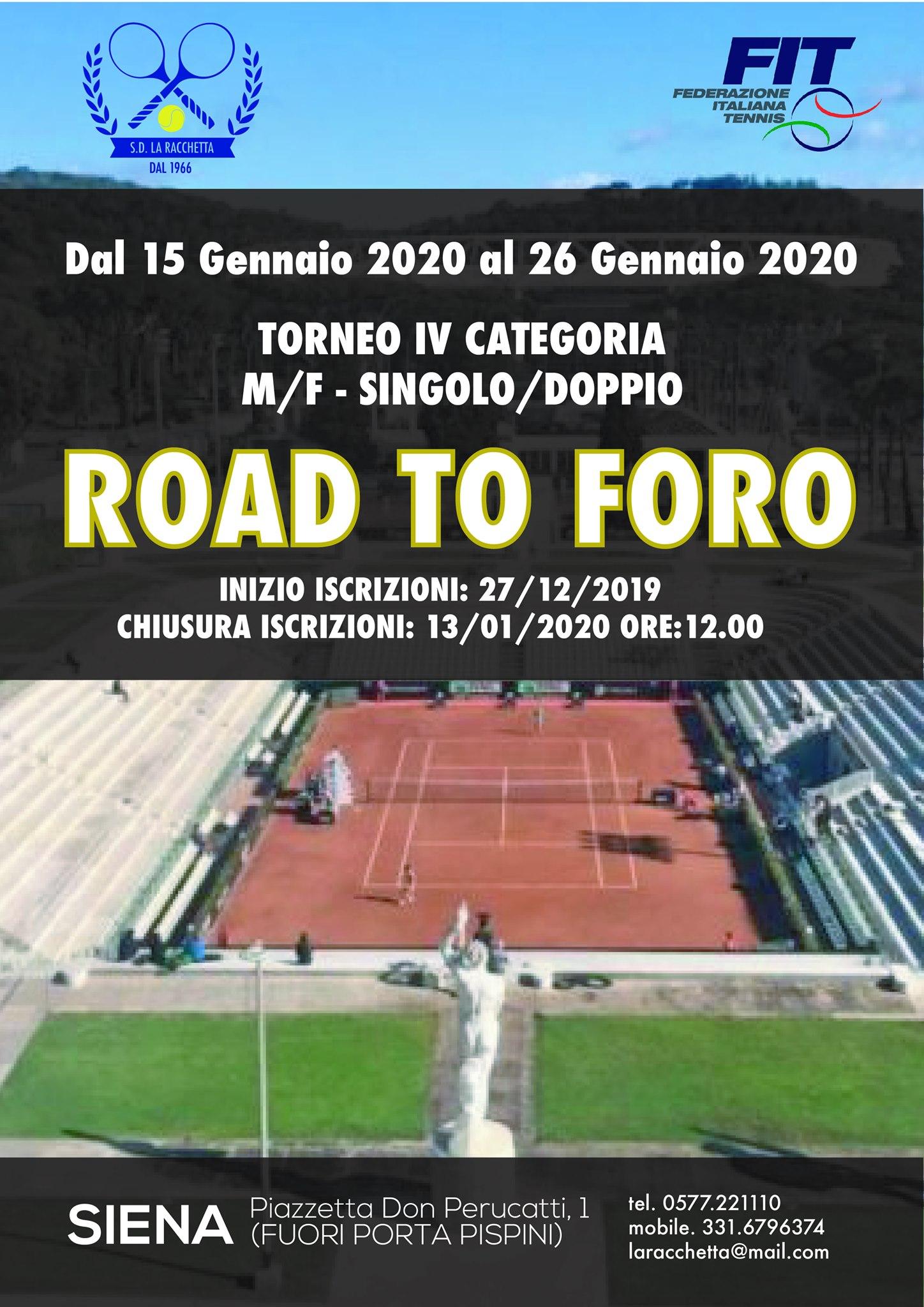 road to foro siena