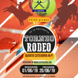 TORNEO RODEO 4° CAT. SINGOLARE M/F GIUGNO 2019