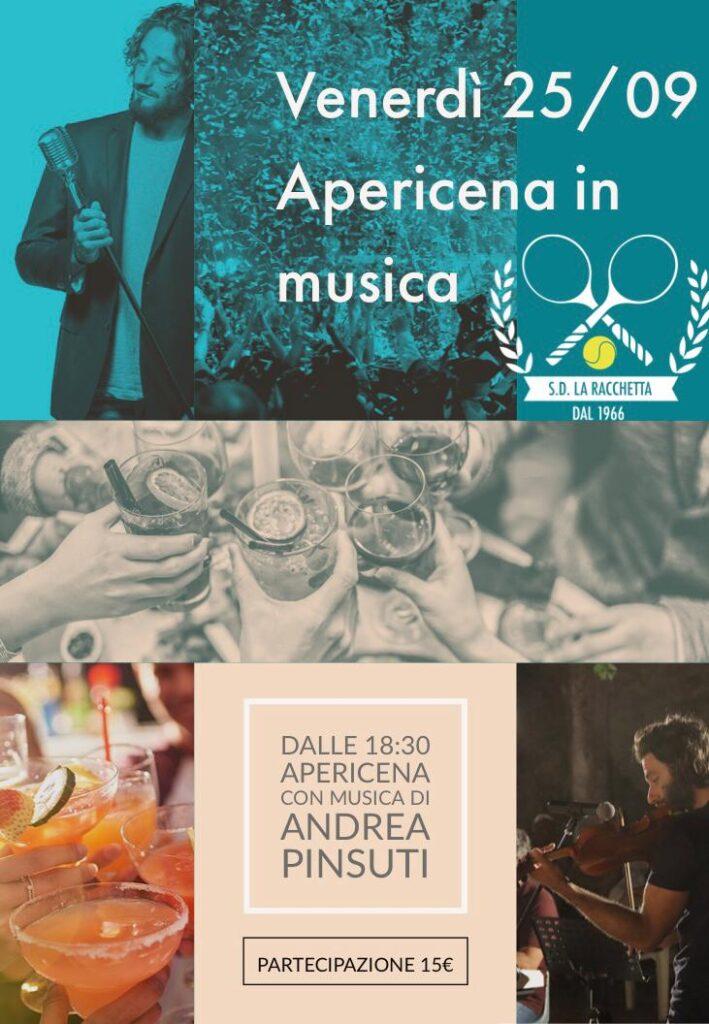 apericena la racchetta con Andrea Pinsuti